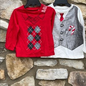 Boys holiday long sleeve shirts 24 months New
